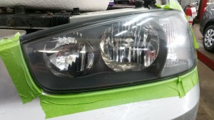 Treated headlight module