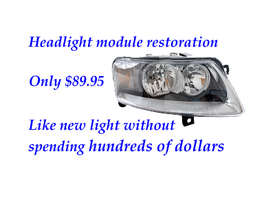 headlight module service at Northwood Garage
