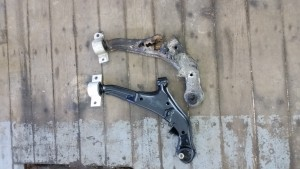 Rusted out lower control arm from a Nissan
