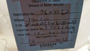New Hampshire Inspection sticker incorrectly installed