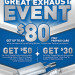Great Exhaust Event $80 rebate